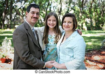 rodinný portrét, venku