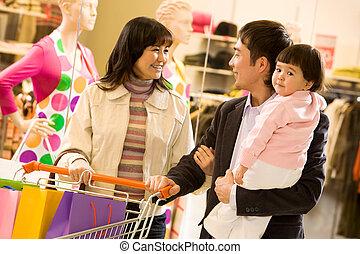 rodinný shopping