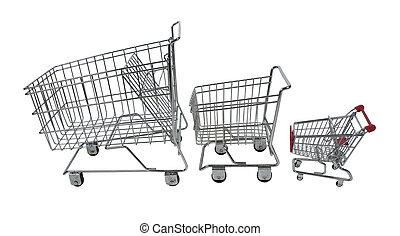 rodinný shopping, vůz