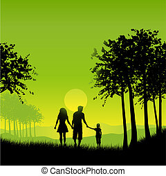 rodinný walking
