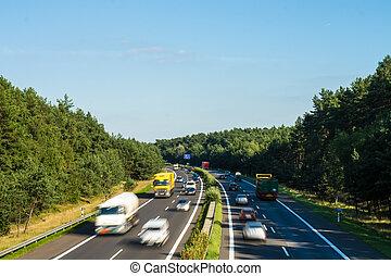 rodovia, em, paisagem