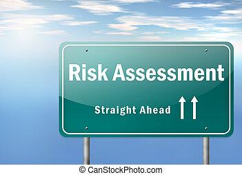 rodovia, signpost, arrisque avaliação