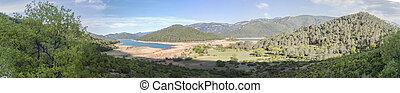 Rodriguez de la fuente lookout, Cabeza de la viña Island, Tranco reservoir, Cazorla, Jaen, Spain