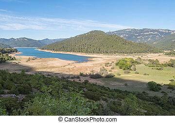 Rodriguez de la fuente lookout, Tranco reservoir, Cabeza de la viña Island, Cazorla, Jaen, Spain