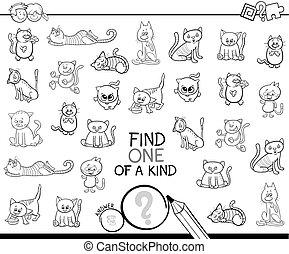 rodzaj, kolor, jeden, gra, książka, koty