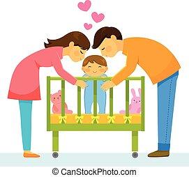 rodzice, kochający