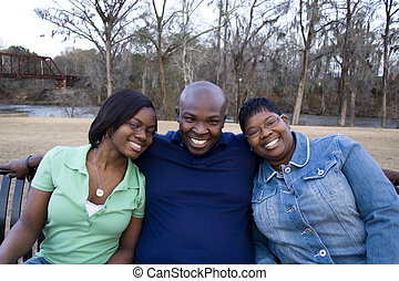 rodzina, afrykańska-amerikanka