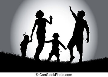 rodzina, chód