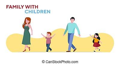 rodzina, dwa dzieci