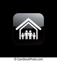 rodzina, odizolowany, ilustracja, jednorazowy, wektor, dom, ikona
