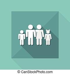 rodzina, odizolowany, ilustracja, jednorazowy, wektor, ikona