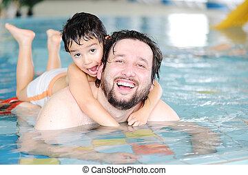 rodzina pływacka