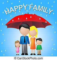 rodzina, parenting, radość, wskazuje, zabawa, szczęśliwy