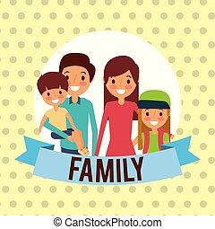 rodzina, razem, litery