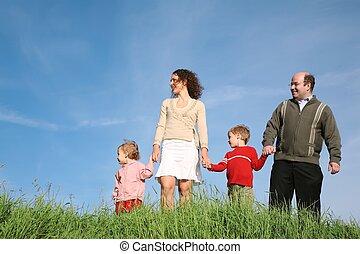 rodzina, reputacja, trawa