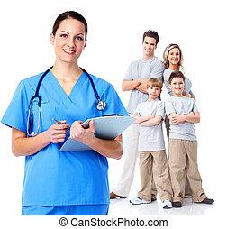 rodzinny doktor, woman.