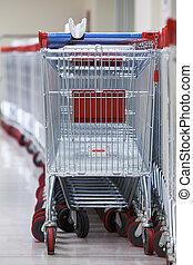 roeien, van, taste, supermarkt, karretjes