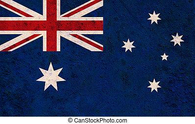 roestige , australië, metaal, vlag