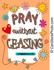 rogar, ceasing, sin