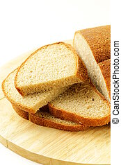 roggen, schwarz, bread, auf, a, holzbrett