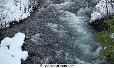 Rogue River Bend Raging Water Torrent Oregon State - The...