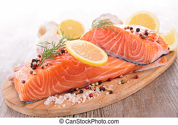 roh, lachs