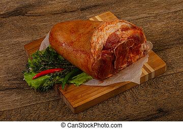 roh, schweinefleisch, knöchel