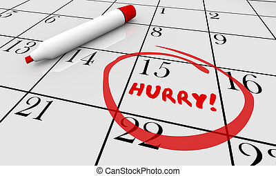 rohanás, ábra, határidő, bekerített, dátum, naptár, siet, nap, 3