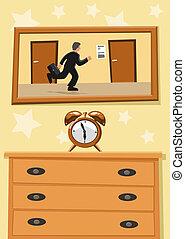 rohanás, óra, fut, ellen, életpálya időmérés, ember