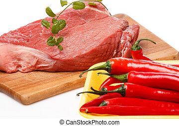 rohkost-gemüse, fleisch