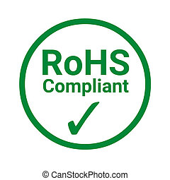 RoHS compliant green sign