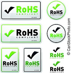 RoHS Compliant Icons Set - Illustration of a set of rohs...