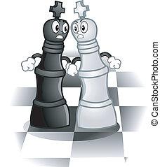 roi, échecs, mascottes