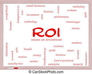 roi, 概念, 単語, 雲,  whiteboard