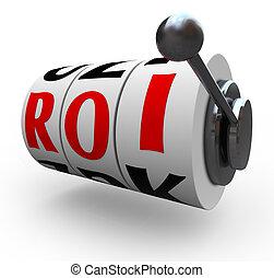 roi, 투자 수익, 슬롯 머신, 바퀴