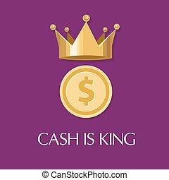 roi, argent, espèces, tout