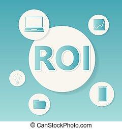 roi, conceito, (return, negócio, investment)