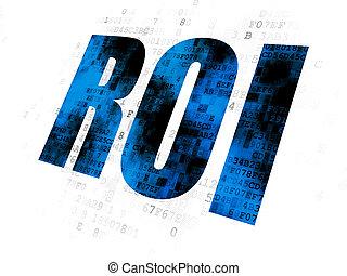 roi, concept:, finance, fond, numérique