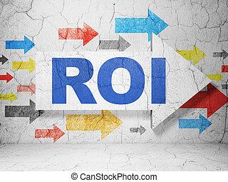 roi, concept:, whis, plano de fondo, grunge, empresa / ...