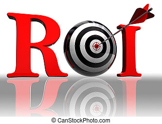 roi conceptual target - roi red word with conceptual target...