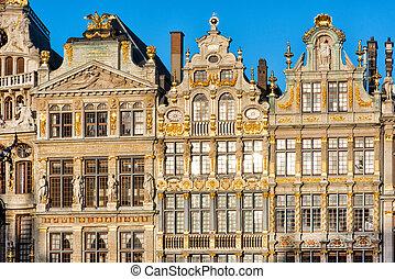 roi, cuadrados, bruxelles, must-see, belgium., casas,...
