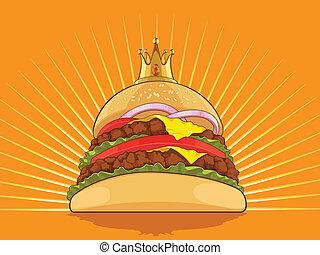 roi, hamburger