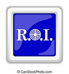 ROI icon. Internet button on white background.