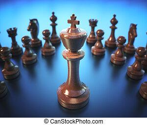 roi, jeu, échecs abordent