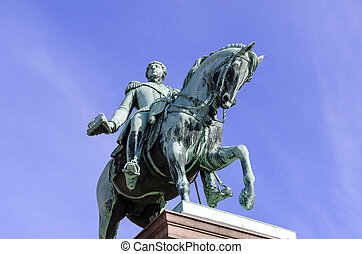 roi, johan, statue, karl
