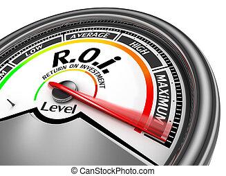 Roi level to maximum conceptual meter for return on...
