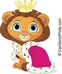 roi, lion