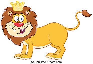 roi, lion, jungle
