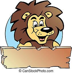 roi, -, logo, conception, fier, lion