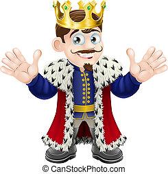 roi, mignon, homme
